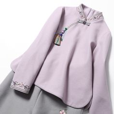 Tang Dress female Suit tea suit two pieces set winter Chinese style retro national wind Chinese improvement Chinese clothing fashion Autumn dress Muslim Fashion, Teen Fashion, Love Fashion, Winter Fashion, Fashion Outfits, Womens Fashion, Chinese Men's Clothing, Chinese Shirt, Dynasty Clothing