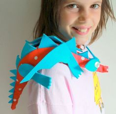 Use this for possible model for dragon over balcony Free DIY - Adorable Shoulder Dragon Craft Tutorial