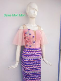 Myanmar Traditional Dress, Traditional Dresses, Waist Skirt, High Waisted Skirt, Skirts, Fashion, Vestidos, Moda, Skirt