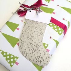 Christmas gift tags. Silver & white #makeforgood #becauseIamagirl Christmas Stocking gift tags by MyPaperPlanet