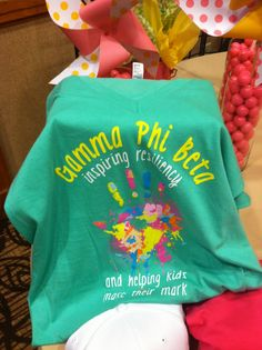 love what this shirt says!!! Incorporate this into philanthropy day decorations