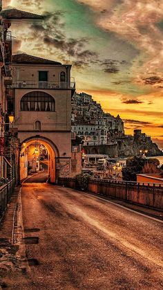AMALFI – wonderful Panorama Pictures, Sunset – vert – Miracles from Nature City Aesthetic, Travel Aesthetic, Beautiful Places To Travel, Wonderful Places, Places Around The World, Around The Worlds, Italy Travel, Italy Tourism, Dream Vacations