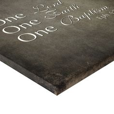 One Lord, Faith, Baptism Grunge Gallery Wrapped Canvas