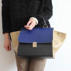 Handmade Artisan Genuine Leather Women's Handbag Messenger Bag Purse