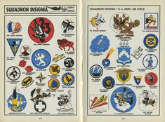 Check out this handbook for wartime citizens, which describes and illustrates the insignias and graphics used by the various divisions of the armed forces.