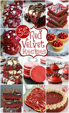 56 Red Velvet Dessert Recipes - DIY & Crafts For Moms (oreo cookie recipes red velvet) Red Velvet Desserts, Red Velvet Recipes, Cupcakes, Cupcake Cakes, Just Desserts, Delicious Desserts, Yummy Food, Yummy Mummy, Sweet Recipes