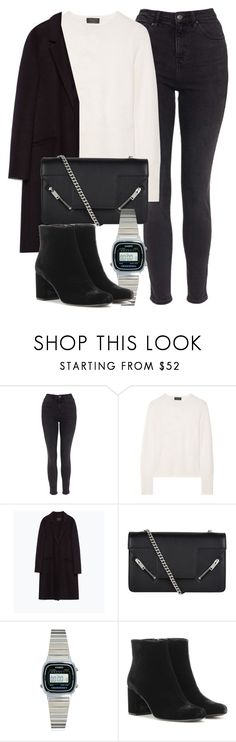 """""""Untitled #5816"""" by laurenmboot ❤ liked on Polyvore featuring Topshop, rag & bone, Zara, Yves Saint Laurent and Casio"""
