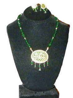 Gold Plated Black Beaded Thewa Necklace Set Ethnic Design Set Womens Jewelry Mogul Interior,http://www.amazon.com/dp/B00841B3GC/ref=cm_sw_r_pi_dp_qstmsb1Y51B89APK