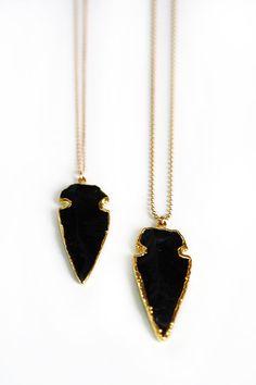 black arrowhead   kei jewelry