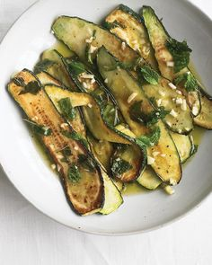 Marinated Zucchini with Mint Recipe