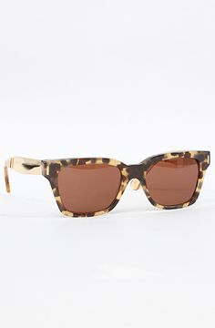 The America Sunglasses in Brown Puma and Gold Metal by Super Sunglasses #MissKL and #SpringtimeinParis