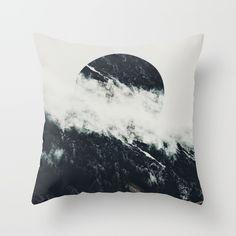 Black meets white Throw Pillow