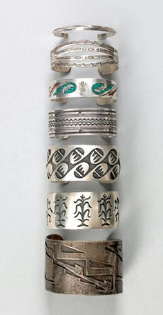 Native American bracelets. Realized Price: $555, Pook & Pook, Inc.