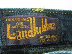 Landlubber denim - vintage clothing label