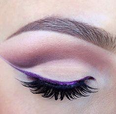 Purple liner #eyes #eye #makeup #bright #bold #dramatic