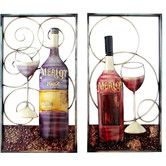 Found it at Wayfair - 2 Piece Wine Themed Wall Décor Set