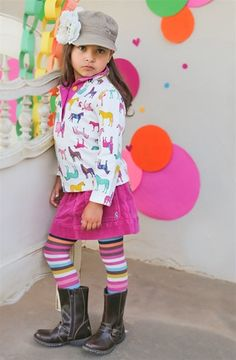 Little Joule - Girls Sweatshirt with Pony Print Fall 2012