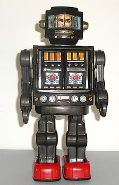 Flight Tracker Vintage Topper Toys Ding-a-lings Brain Robot Figure Used Toys & Hobbies Battery Operated