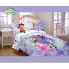 Disney's Fairies Floral Frolic Twin/Full Bedding Comforter