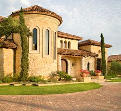 Tuscan villa home plans