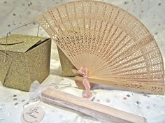 Natural Wood Fans Wedding Favors by BonFortune on Etsy, $1.75