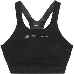 ADIDAS BY STELLA MCCARTNEY Racerback Active Black // Functional sports... (275 BRL) ❤ liked on Polyvore featuring activewear, sports bras, adidas, sports bra, racer back sports bra, adidas sportswear and racerback sports bra