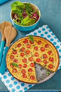 Vegane Tomaten-Quiche mit Tofu