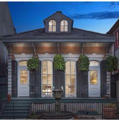 regram from @francherperrin | 1218 Bourbon St. New Orleans LA 70116  Live in the coveted Lower #FrenchQuarter! This charming Victorian has 3BR/2BA high ceilings wood floors throughout gorgeous architectural details pocket doors custom lighting Southern front porch and a large courtyard in the rear! |  #FQBA by fqba