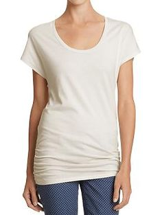 Women's Ruched-Waist Dolman Tees | Old Navy