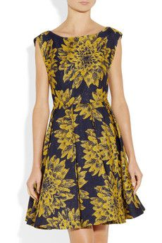 Alice + OliviaPleated brocade dress $495.00
