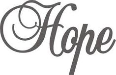 Image result for hope word