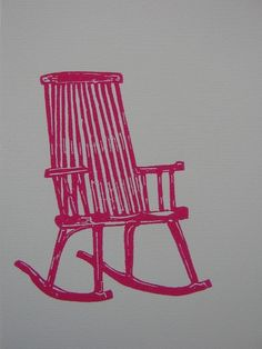 pink rocking chair: by k nydam