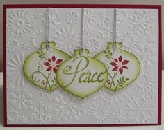 Stamping onto Ornament punch