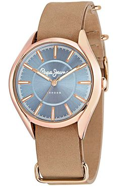 Alice - Montre - rose et beige - Pepe Jeans London - Ref: 1497875 Pepe Jeans, Alice, Tutu, London, Watches, Leather, Accessories, Fashion, Pink Watch