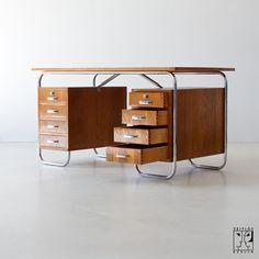 Tubular steel desk by Mücke-Melder