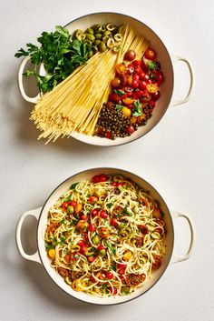 Weeknight cooking at its finest: The Kitchn rounded up 5 family-friendly one-pot pasta recipes. These recipes each use only 5 ingredients and come together in a snap with The Kitchn's recommended 3.5 qt. Le Creuset Braiser.