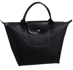 b3becf3c8abe longchamp bag Black Handbags, Petite Fashion, My Bags, Mini, Longchamp  Black,