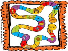 Phonological Awareness: Children learn about phonological awareness through this fun board game! Found at: Miss Kindergarten, Phonological Awareness board Education And Literacy, Kindergarten Literacy, Early Literacy, Phonics Activities, Language Activities, Classroom Activities, Educational Activities, Phonemic Awareness Activities, Phonological Awareness
