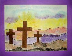 I've always found it difficult to find art and craft projects suitable for the L. - I've always found it difficult to find art and craft projects suitable for the Lenten season. Easter Arts And Crafts, Arts And Crafts For Teens, Art And Craft Videos, Easter Religious, Religious Art, Religious Education, Arts And Crafts Interiors, Cross Art, Church Crafts