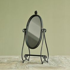 American country to do the old mirror Industrial Loft / French vintage wrought iron bracket birds Mirror - standing mirror