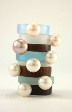 Pearl Rings by Annie Tung of She Smiled and Ran $65-$70 #starpicks #OOAKX11  #Meetourstars