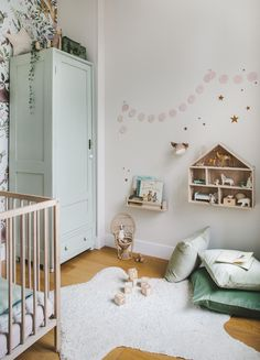 small children's rooms can be a challenge to design, but with some clever space planning and styling, even the tiniest bedrooms can be magical spaces. Small Room Design, Kids Room Design, Nursery Design, Nursery Decor, Boho Nursery, Baby Bedroom, Kids Bedroom, Bedroom Ideas, Single Wardrobe