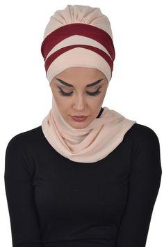 Ready HijabReady TurbanHeadwrapReady To Wear Hijab Bridal Hijab, Abaya Fashion, Head Wraps, Ready To Wear, Chiffon, Trending Outfits, Unique Jewelry, Etsy, Om