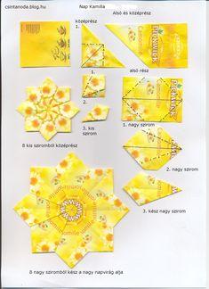teatasak hajtogatás karácsonyra - Google keresés Origami Modular, Origami Folding, Diy Origami, Origami Tutorial, Origami Wall Art, Fabric Origami, Fancy Fold Cards, Folded Cards, Gato Origami