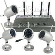 Wholesale Wireless home security system - 2 Wireless Camera & Receiver - 4 wireless cameras