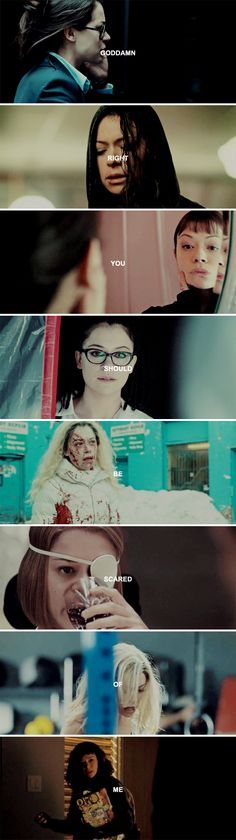 Goddamn right you should be scared of me. #orphanblack