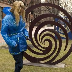 Make an Ikea Raincoat. Includes pattern which could also be used with ironed plastic bag material, I'm thinking.
