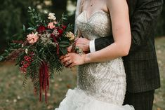 Fall Cascade Burgundy Bouquet- Pollen and Pastry Burgundy And Blush Wedding, Burgundy Bouquet, Cascade Bouquet, Cascading Bouquets, Flower Farmer, Wedding Rentals, Sweet Couple, Bridesmaid Dresses, Wedding Dresses
