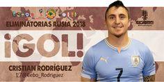 Golazo de Uruguay! Cristian Rodríguez de cabeza  empatan 1 a 1. #COLvsURU #Uruguay #EliminatoriasRusia2018