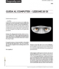 Lezione 20 (PDF) - IL MODEM/ROUTER Parte 2. Termini la conoscenza del dispositivo.